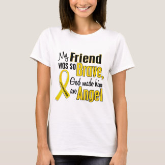 Childhood Cancer ANGEL 1 Friend (Male) T-Shirt