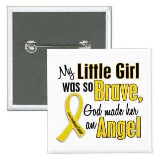 Childhood Cancer ANGEL 1 Little Girl Pin