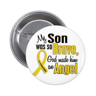 Childhood Cancer ANGEL 1 Son Pinback Buttons