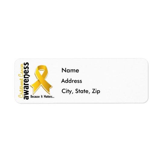 Childhood Cancer Awareness 5 Return Address Label