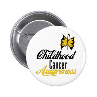 Childhood Cancer Awareness Butterfly Pinback Button