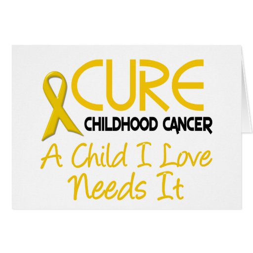 Childhood Cancer Awareness CURE Cards
