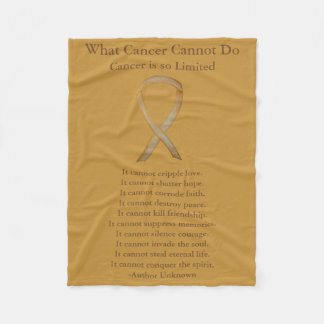 Childhood Cancer Awareness Gold Ribbon Blankets