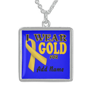 Childhood Cancer Awareness Memorial  Necklace