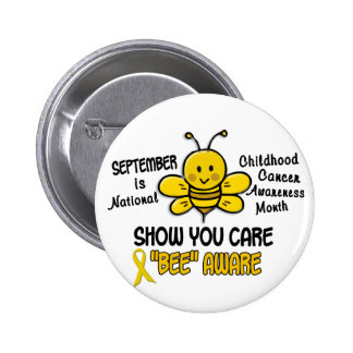 Childhood Cancer Awareness Month Bee 1 1 Pinback Button