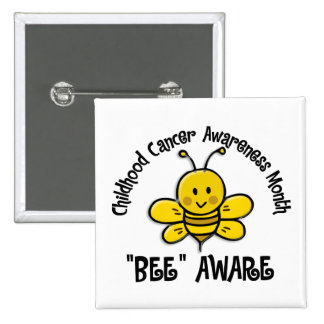 Childhood Cancer Awareness Month Bee 1 2 Pinback Button