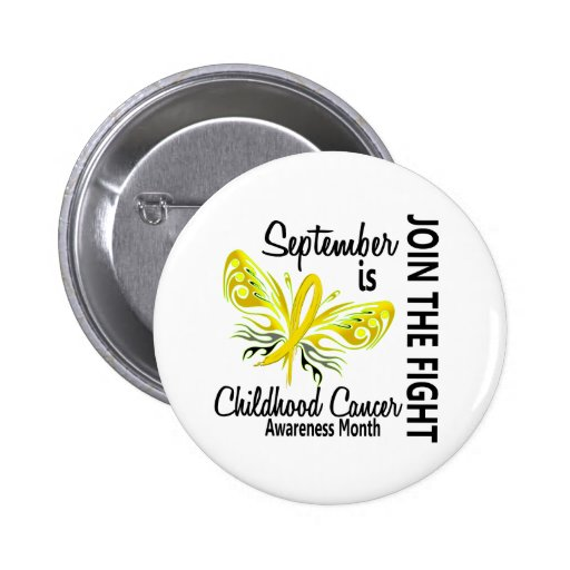 Childhood Cancer Awareness Month Butterfly 3.1 Button
