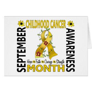 Childhood Cancer Awareness Month Flower Ribbon 4 Card