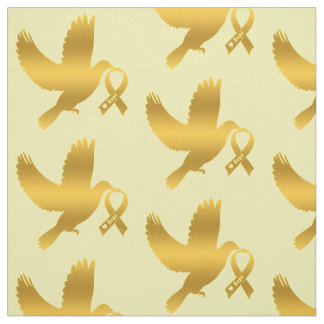 Childhood Cancer  Awareness Ribbon Dove of Hope Fabric