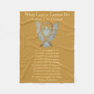 Childhood Cancer Awareness Ribbon Soft Blankets