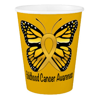 Childhood Cancer Butterfly Awareness Paper Cup