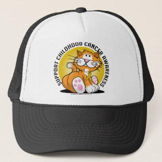 Childhood Cancer Cat Trucker Hat