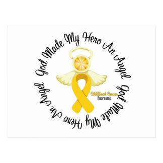 Childhood Cancer God Made My Hero An Angel Postcard