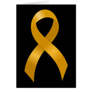 Childhood Cancer Gold Ribbon Card