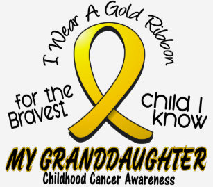 e6a3c582586 Childhood Cancer Gold Ribbon For My Granddaughter T-Shirt