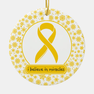 Childhood Cancer Gold Ribbon Ornament