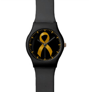 Childhood Cancer Gold Ribbon Wristwatches