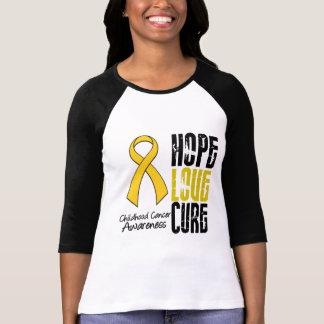 Childhood Cancer Hope Love Cure Ribbon Tshirts