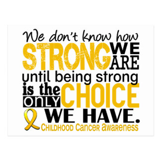 Childhood Cancer How Strong We Are Postcard