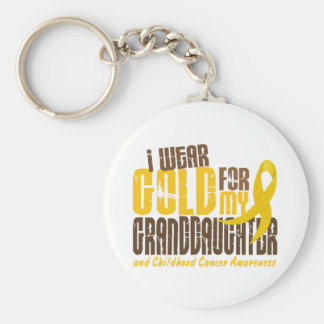 Childhood Cancer I WEAR GOLD FOR MY GRANDDAUGHTER Key Ring