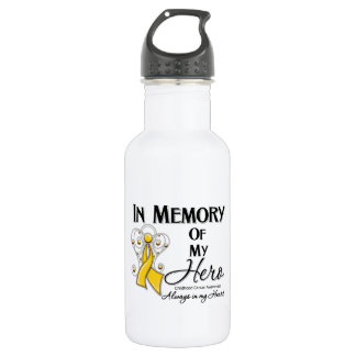 Childhood Cancer In Memory of My Hero 532 Ml Water Bottle