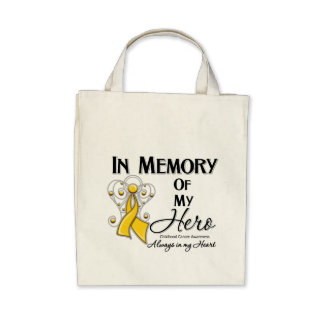 Childhood Cancer In Memory of My Hero Bags