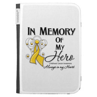 Childhood Cancer In Memory of My Hero Kindle Keyboard Cases