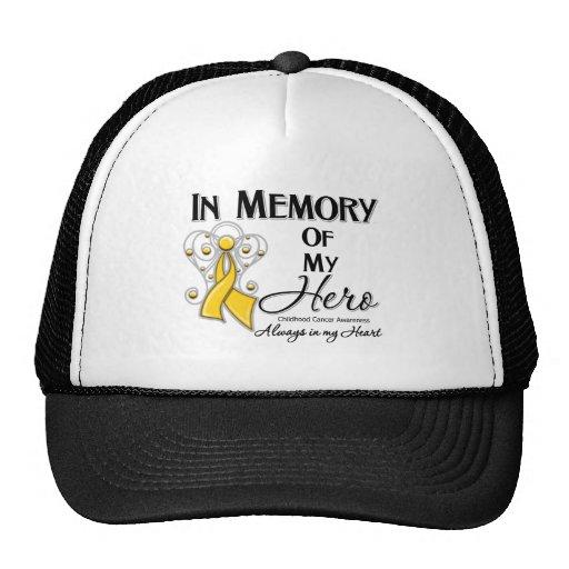 Childhood Cancer In Memory of My Hero Trucker Hats