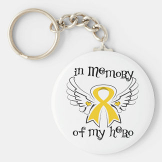 Childhood Cancer In Memory of My Hero Keychains