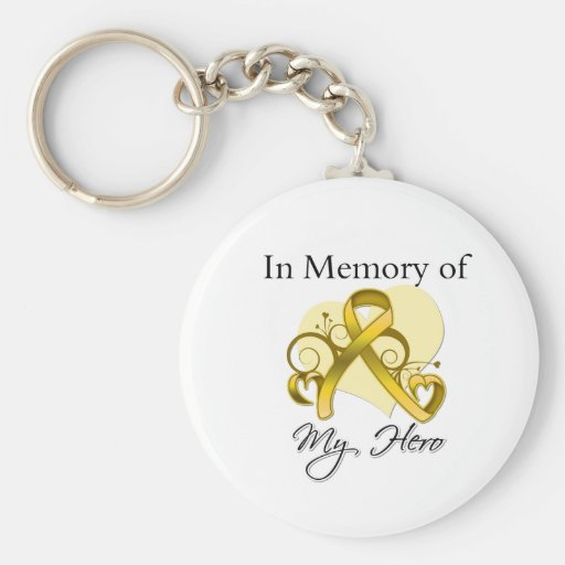 Childhood Cancer In Memory of My Hero Key Chains