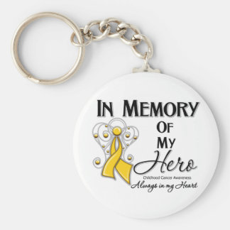 Childhood Cancer In Memory of My Hero Key Chain