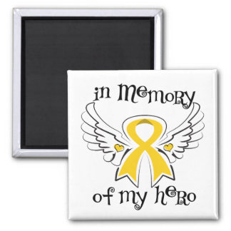 Childhood Cancer In Memory of My Hero Magnet