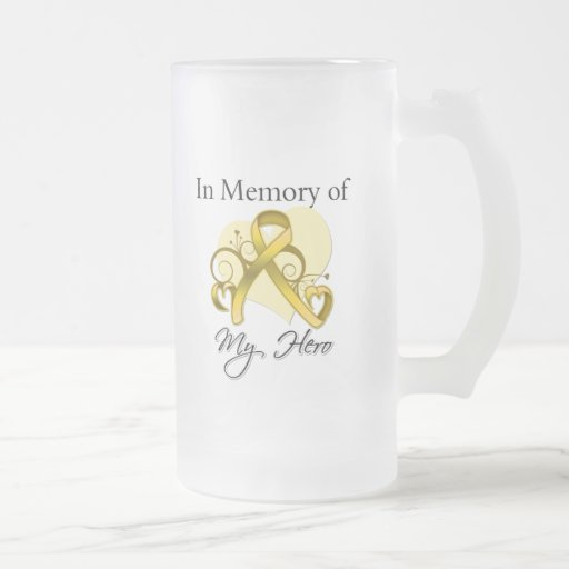 Childhood Cancer In Memory of My Hero Mugs
