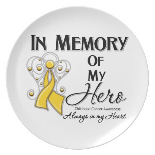 Childhood Cancer In Memory of My Hero Plates