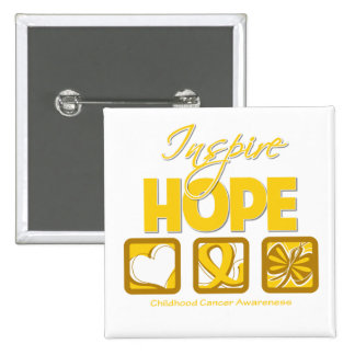 Childhood Cancer Inspire Hope Buttons