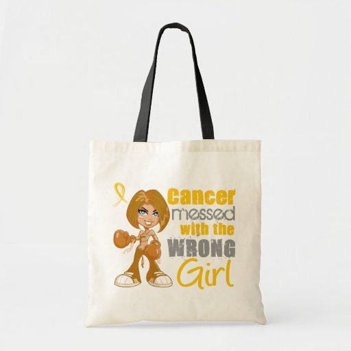 Childhood Cancer Messed With The Wrong Girl Tote Bags