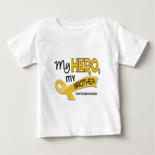 f278e17db09 Childhood Cancer MY HERO MY BROTHER 42 Baby T-Shirt