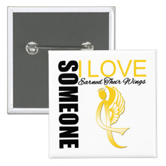 Childhood Cancer Someone I Love Earned Their Wings Pins