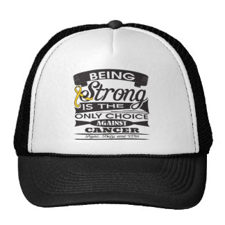 Childhood Cancer Strong is The Only Choice Mesh Hats