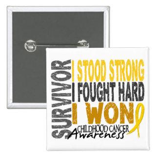Childhood Cancer Survivor 4 15 Cm Square Badge