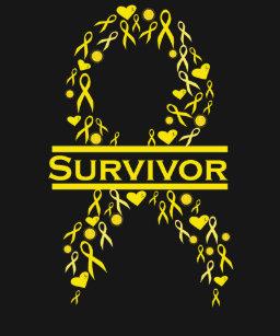 55d08c9b9b6 Childhood Cancer Survivor Awareness Ribbon T-Shirt