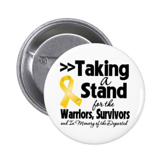 Childhood Cancer Taking a Stand Tribute Button