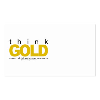Childhood Cancer Think GOLD Business Cards