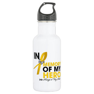 Childhood Cancer Tribute In Memory of My Hero 532 Ml Water Bottle