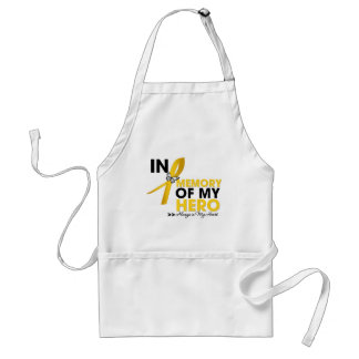 Childhood Cancer Tribute In Memory of My Hero Apron