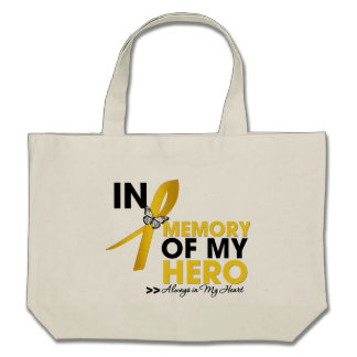 Childhood Cancer Tribute In Memory of My Hero Canvas Bag