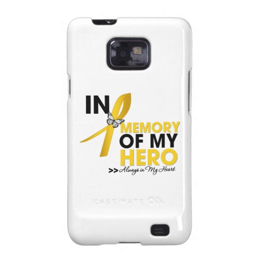 Childhood Cancer Tribute In Memory of My Hero Samsung Galaxy S2 Covers