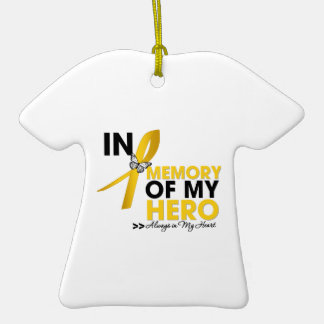 Childhood Cancer Tribute In Memory of My Hero Ornaments
