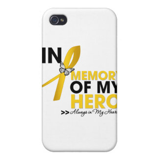 Childhood Cancer Tribute In Memory of My Hero iPhone 4 Case