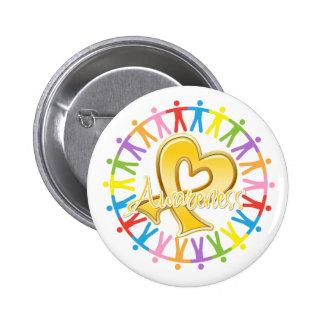 Childhood Cancer Unite in Awareness 6 Cm Round Badge